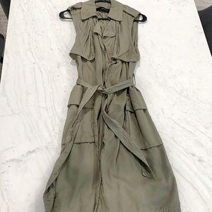 Zara Sleeveless Duster Jacket